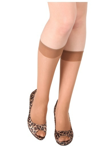 Pierre Cardin 6 Çift Paket Likralı Parlak Dizaltı Çorap Ten